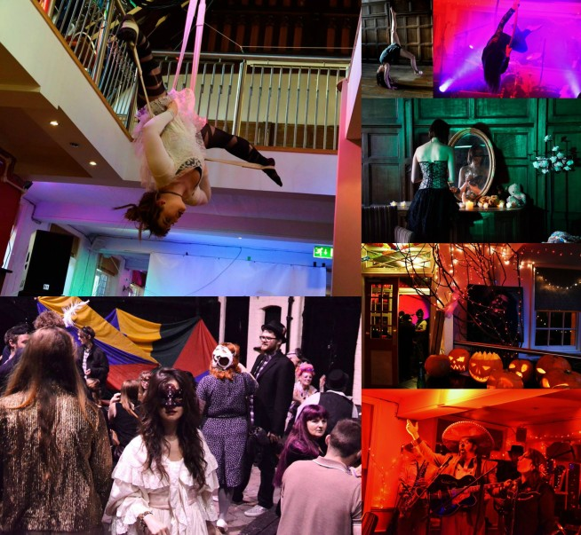 pink elephant circus, the booth hall hereford, sin palace, masquerade ball